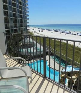 A view from one of our beach vacation rentals in Panama City, FL