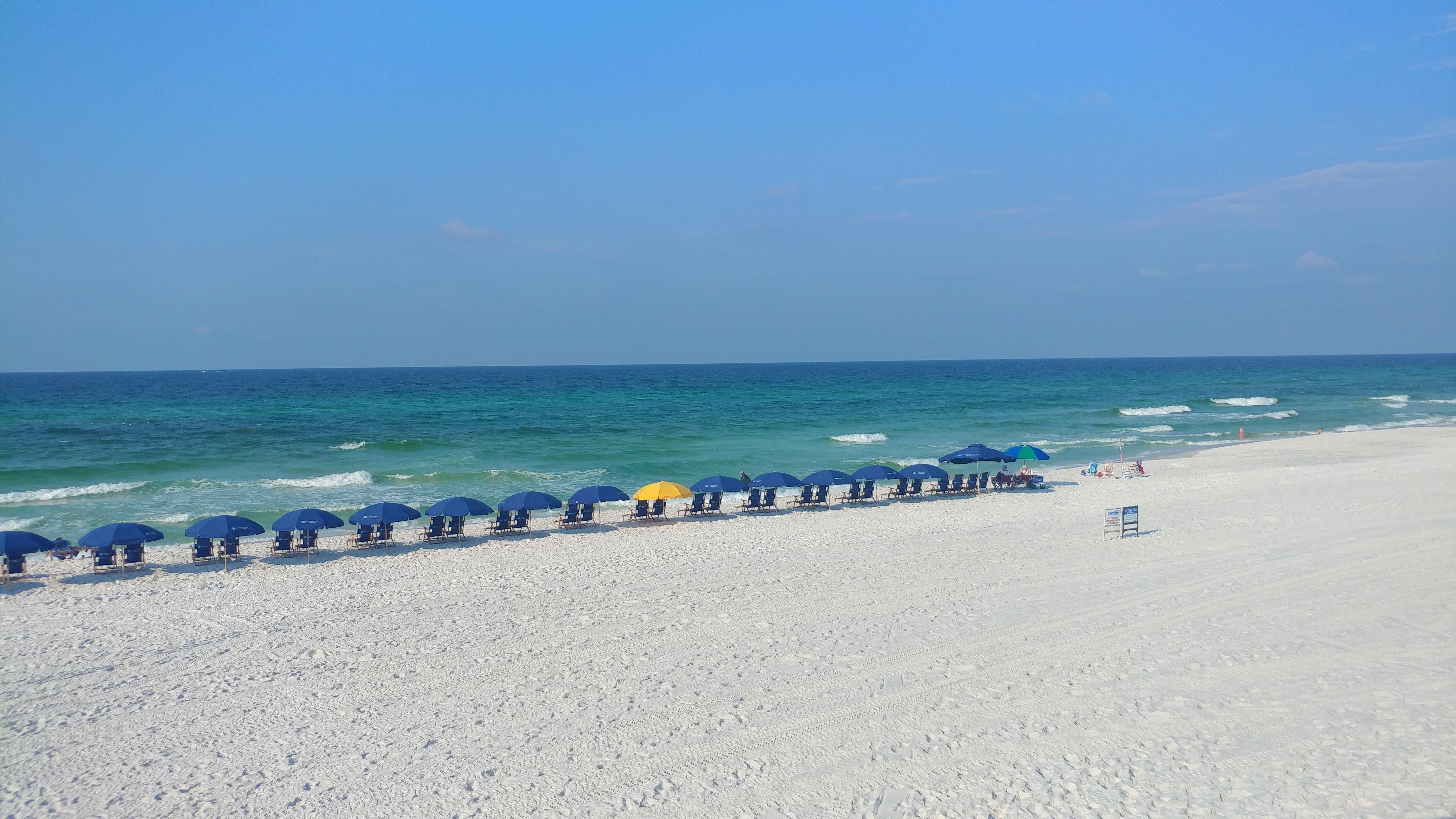 Relaxing no beach chairs