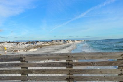 Rustic sand dunes along Panama City Beach in NW FL