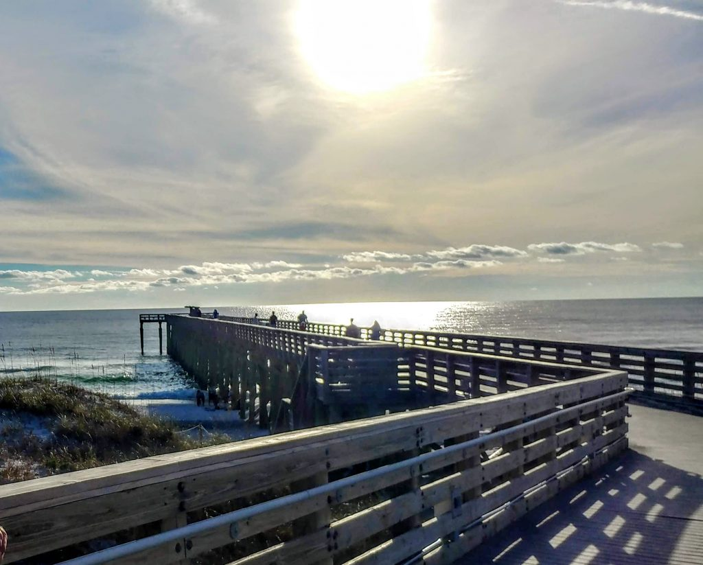 Walkway to the beach - a beautiful vacation spot.