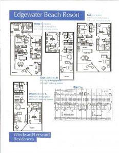 floor plans at Edgewater Beach Resort in PCB FL