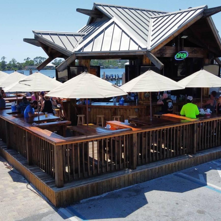 Outdoor Tiki Sports Bar in Panama City Beach